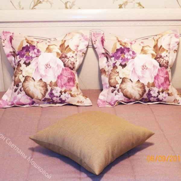 Подушки в спальню